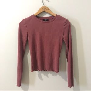 Dynamite Ribbed Long Sleeve